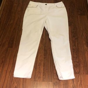 Like New! Chico's - Off White Cords - Size 2
